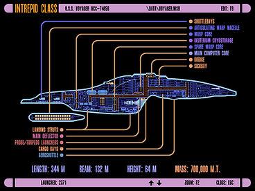 Intrepid-class engineering LCARS screen