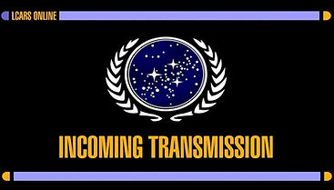 An Incoming Trnsmission screen, with the UFP logo in the center.