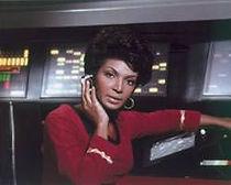Uhura at the comms station!