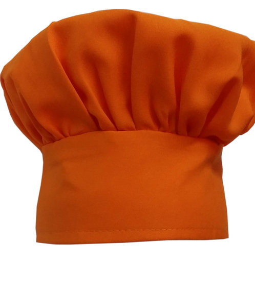 Kids Orange (fruit) Chef Hat Adjustable Comfortable
