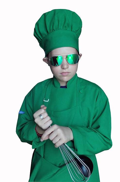 Kids Kelly Green Chef Jacket
