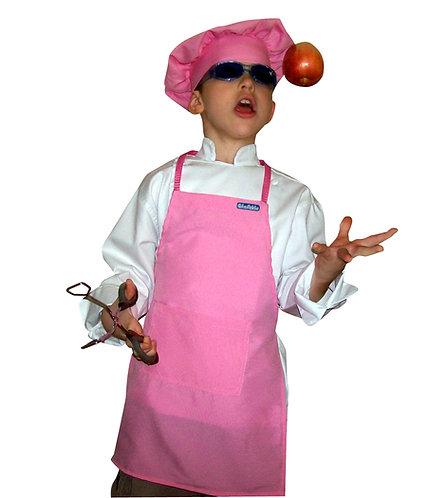 Kids set of Soft Pink Apron + Hat