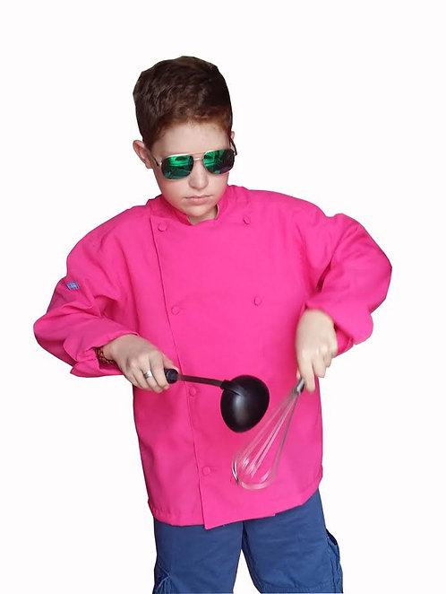 Kids Hot Pink Chef Jacket
