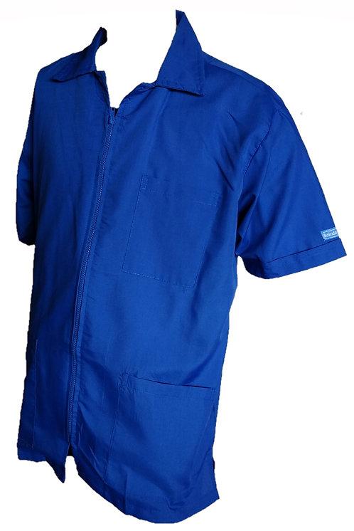 Royal Blue Barber Cosmetologist Stylist Coat