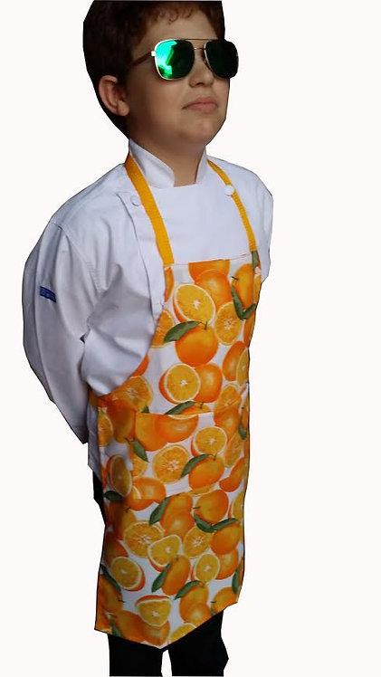 Kids Unique Oranges PLASTIC apron