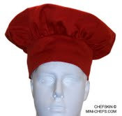 Kids Red (Strawberry) Chef hat adjustable