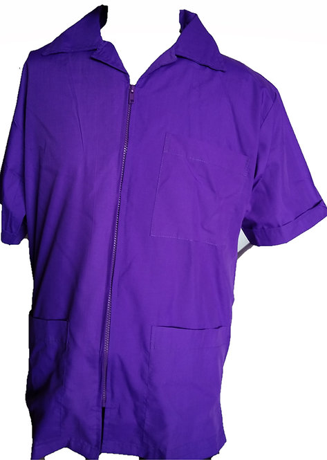 Dark Purple Grape Barber Cosmetologist Stylist Coat
