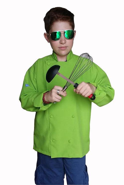 Kids Green (Avocado) Chef Jacket