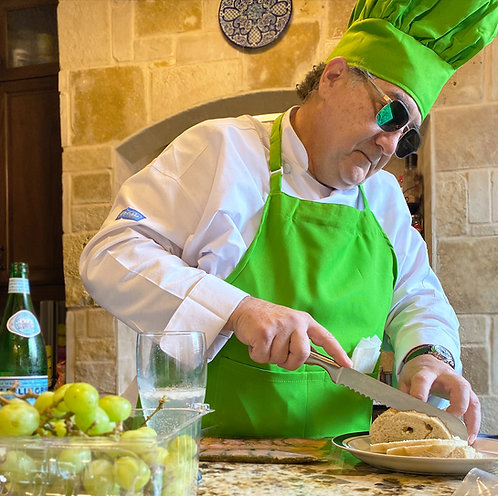 8X Unisex Adult Chef Apron in Lime Green