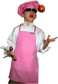 Kids Soft Pink Apron with pocket