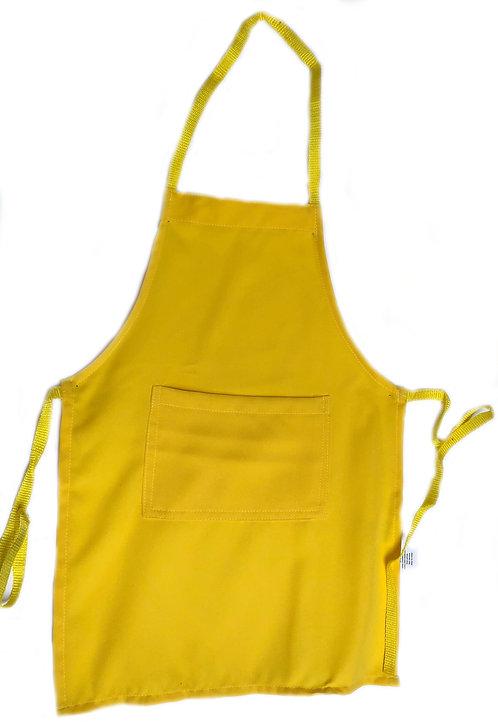 Kids Banana Yellow Apron with pocket