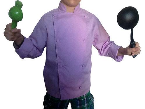 Kids Lavender Lillac Chef Jacket