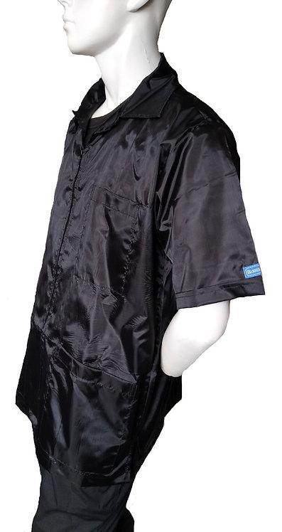 Jet Black LIGHT Repellent Barber Cosmetologist Stylist Coat