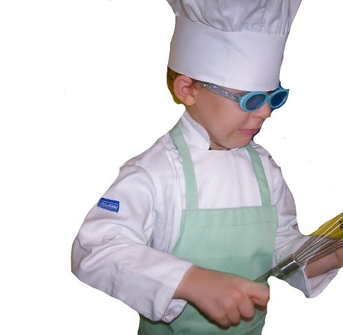 Kids Mint Green Apron with pocket