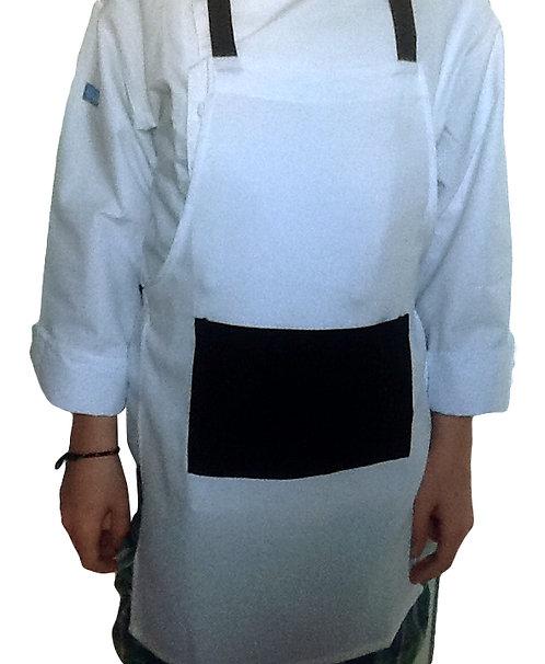 Kids Bright White w/black pocket