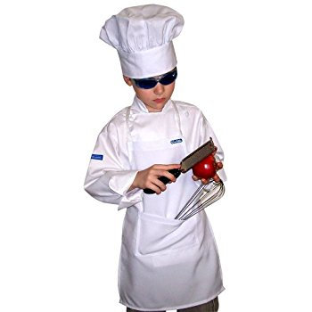 Set Kids Apron + Hat White