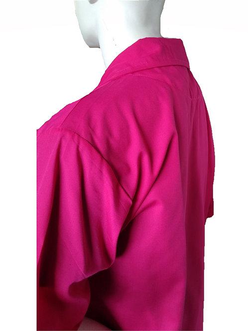 Hot Pink Fuchsia Barber Cosmetologist Stylist Coat