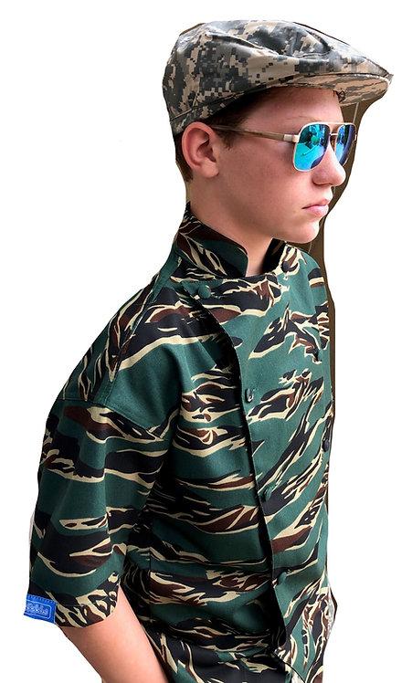 Kids Camo Tiger Stripe Chef Jacket