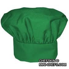 Kids Lime Green Chef Hat Adjustable