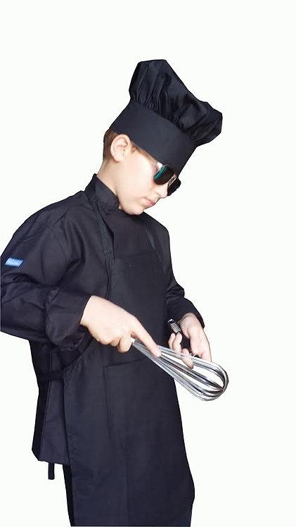Kids Black Chef Jacket