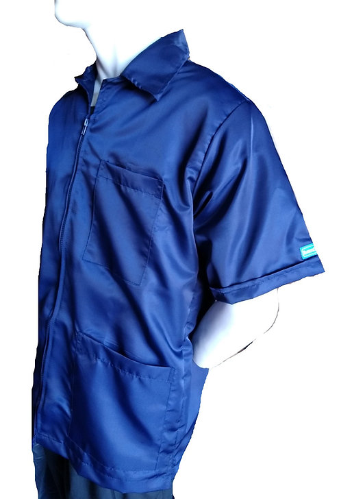 Navy Blue Medium Barber Cosmetologist Stylist Coat
