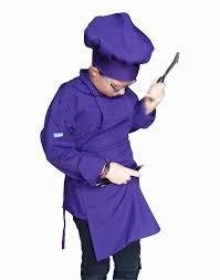 Kids Purple Apron with pocket