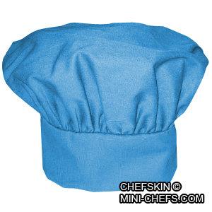 Kids Turquoise Blue Chef Hat Adjustable Comfortable