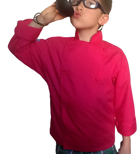 copy of Kids Tomato Red Chef Jacket