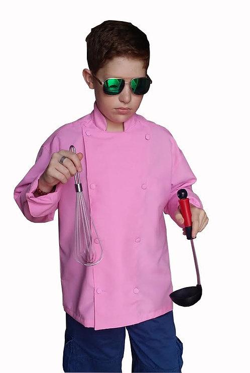 Kids Pink Chef Jacket