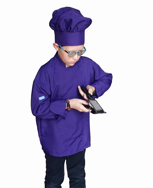 Kids Purple Chef Jacket
