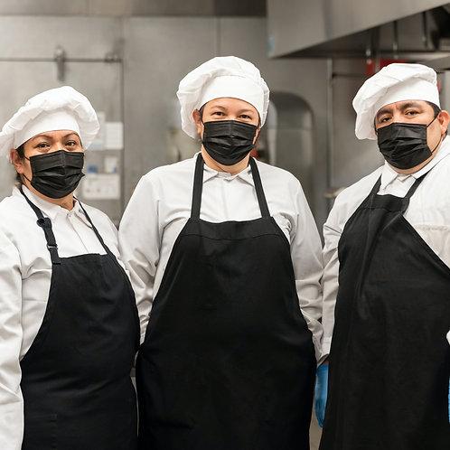 6X Unisex Adult Chef Apron in Black