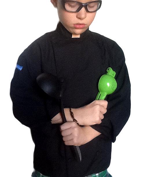 Kids Jet Black Chef Jacket