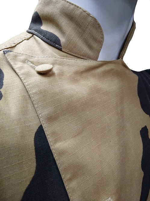 Camo Giraffe Hunting Africa Chef Jacket PRO Deluxe
