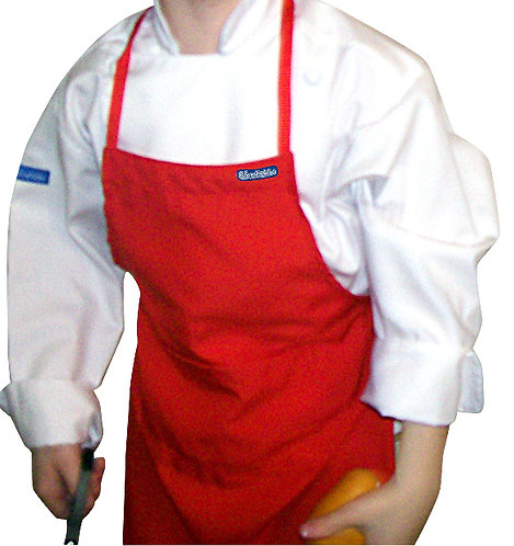 Kids Tomato Red Apron with pocket