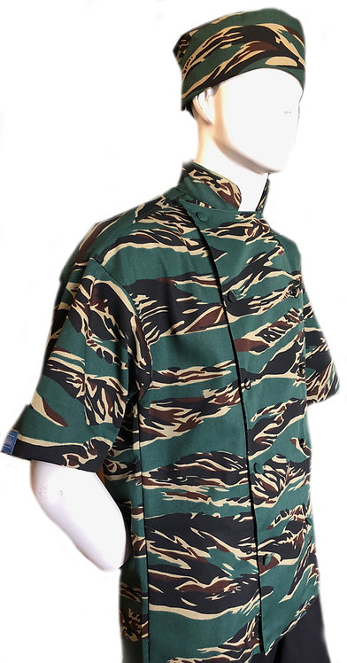 Camo Tiger Stripes Chef Jacket PRO Deluxe