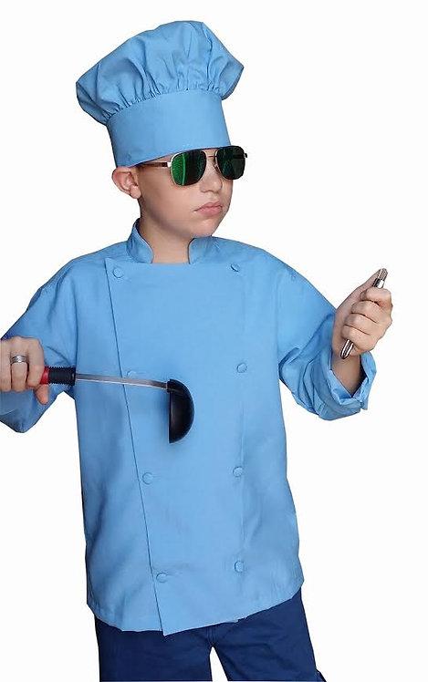 Kids Baby Blue Chef Hat Adjustable Comfortable