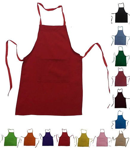 Kids Strawberry Red Apron with pocket