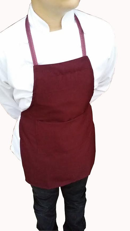 Kids Burgundy Wine  Apron with pocket