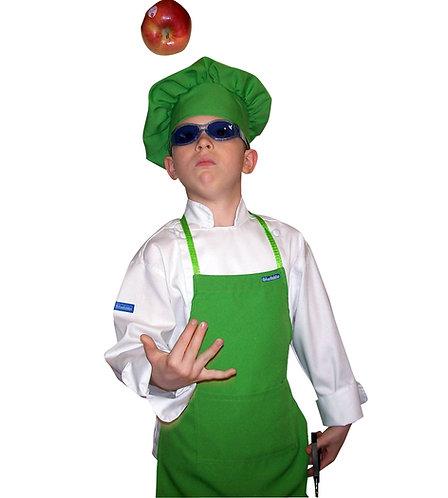 Kids set of Lime Green Apron + Hat