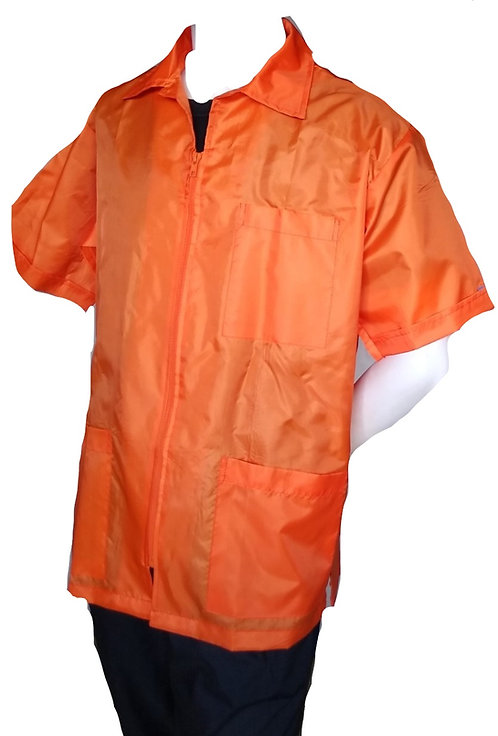 Orange Nylon Repellent Barber Coat Light