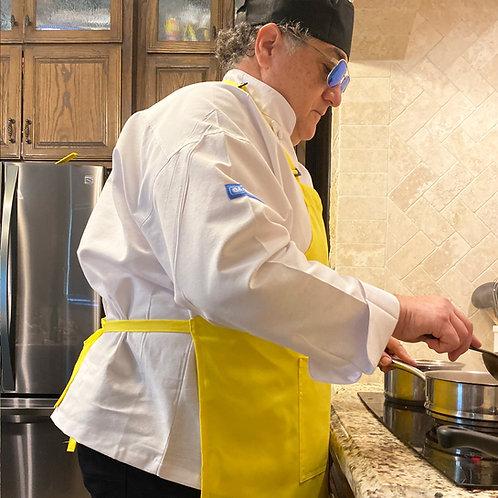 4X Unisex Adult Chef Apron in Banana Yellow