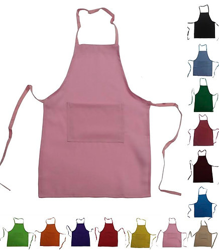 Kids Pink Coral Apron with pocket