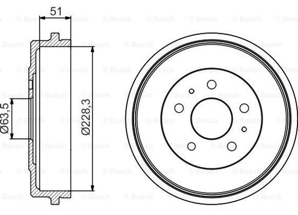 Bosch 0 986 477 219 Барабан тормозной Ford Focus II