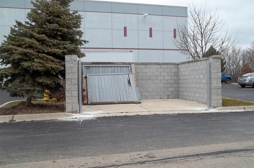 Dumpster Enclosure Repairs