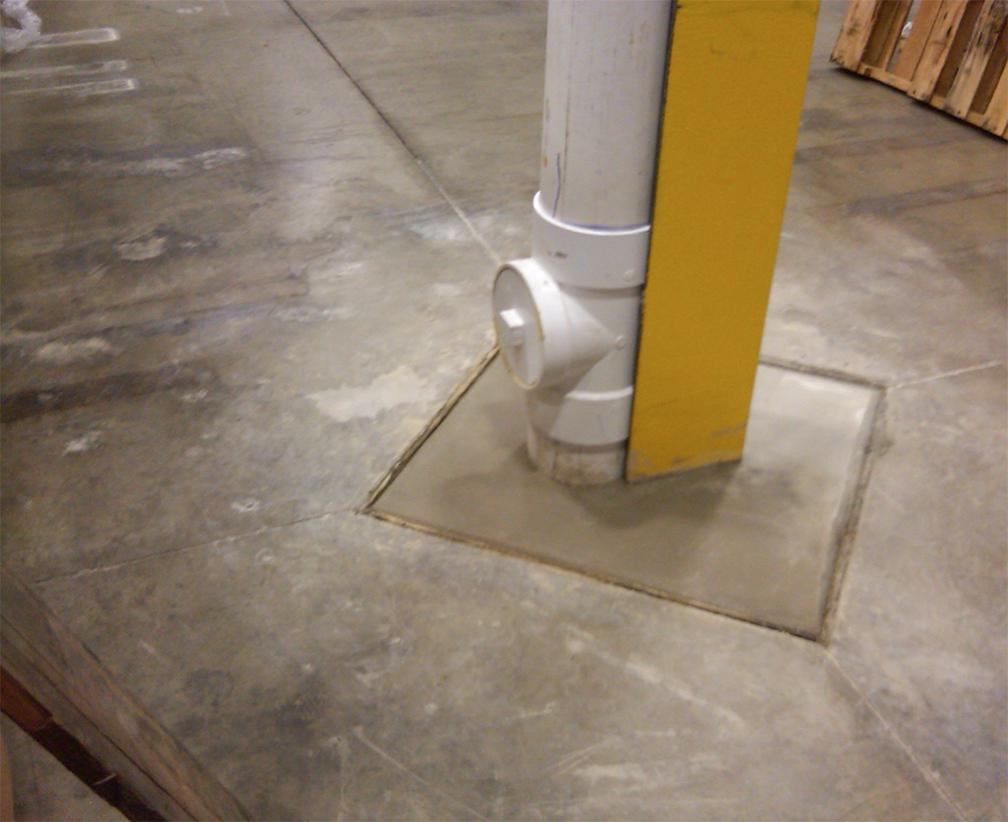 Warehouse Roof Drain Repair