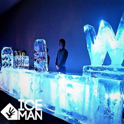 Bar tallado en Hielo Hotel W IceMan Chil