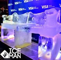 Sillon  tallado en Hielo Visa IceMan Chi