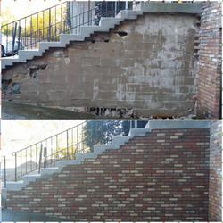 Brick wall rebuild