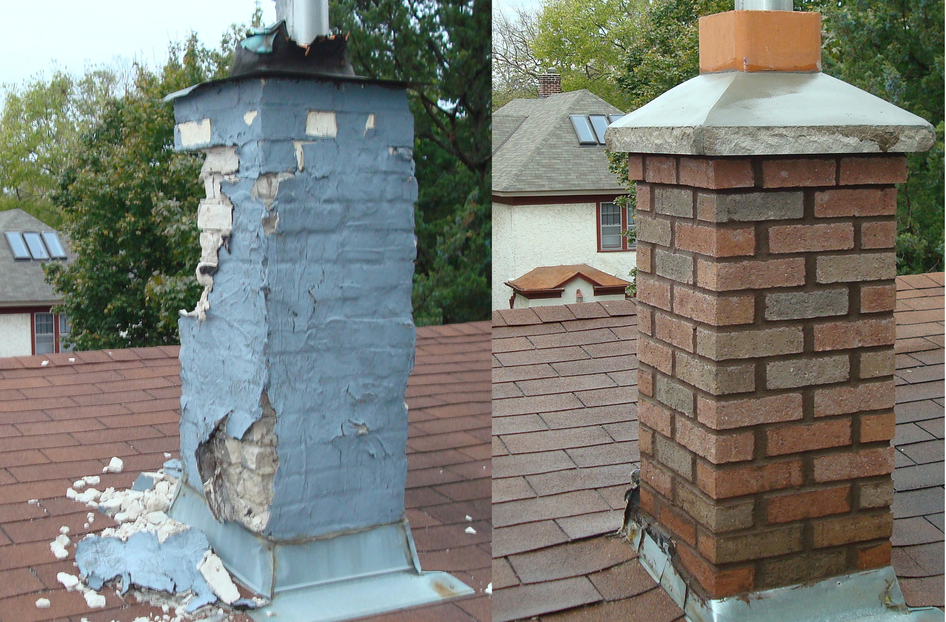 Service Chimney Rebuild