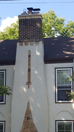 Brick & Stucco Combo Chimneys (3)